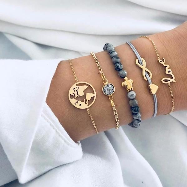 Ensemble 5 bracelets boheme Aliexpress