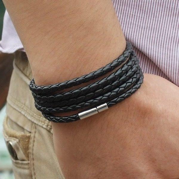 Bracelet en cuir tresse homme Aliexpress