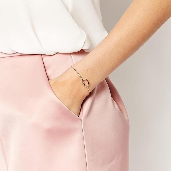Bracelet noeud avec initiale