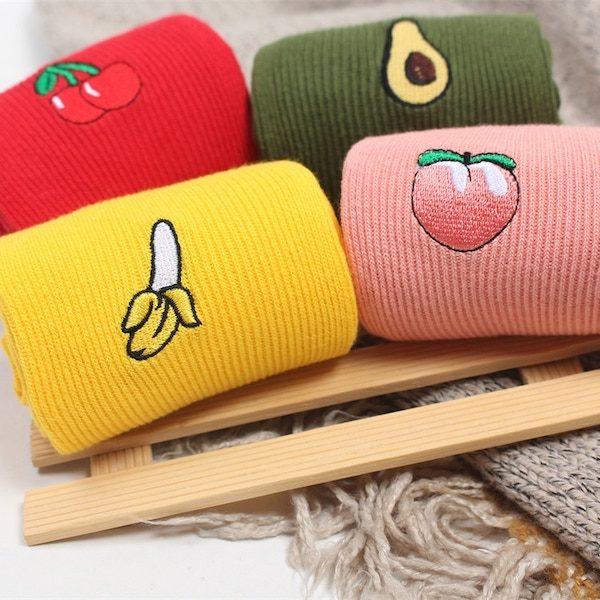 Chaussettes motif fruits