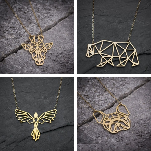 Collier origami animal