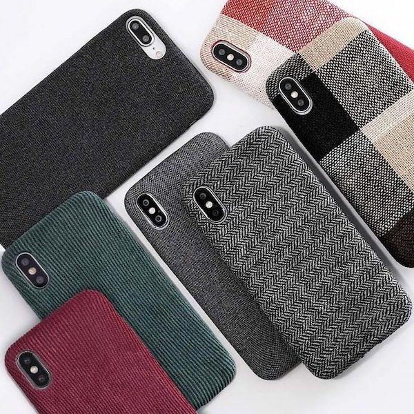 Coque texture tissu iPhone