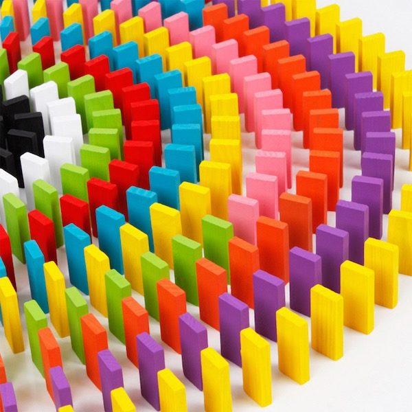 Dominos 120 pieces multicolore