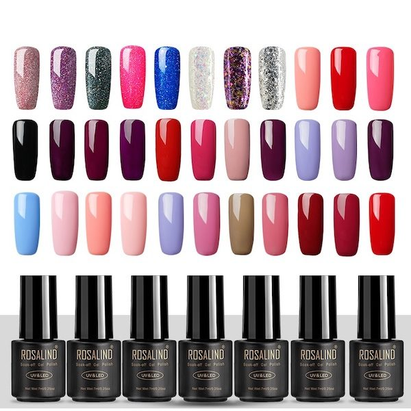 Vernis a ongles semi permanent ROSALIND Aliexpress