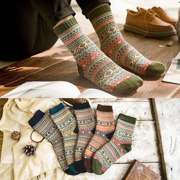 chaussettes norvegiennes hiver