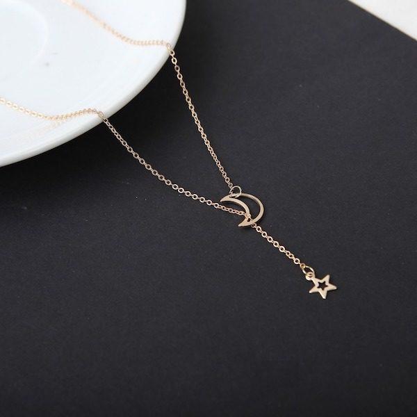 collier pendentif lune et etoile Aliexpress