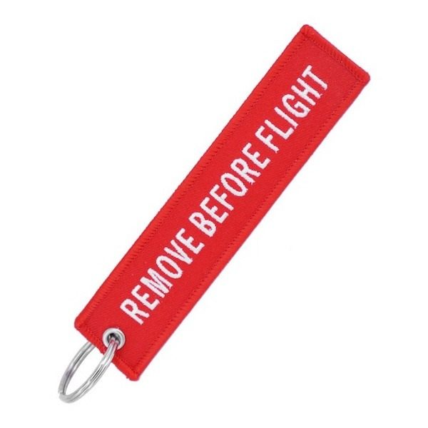 porte cle rouge remove before flight ALiexpress 1
