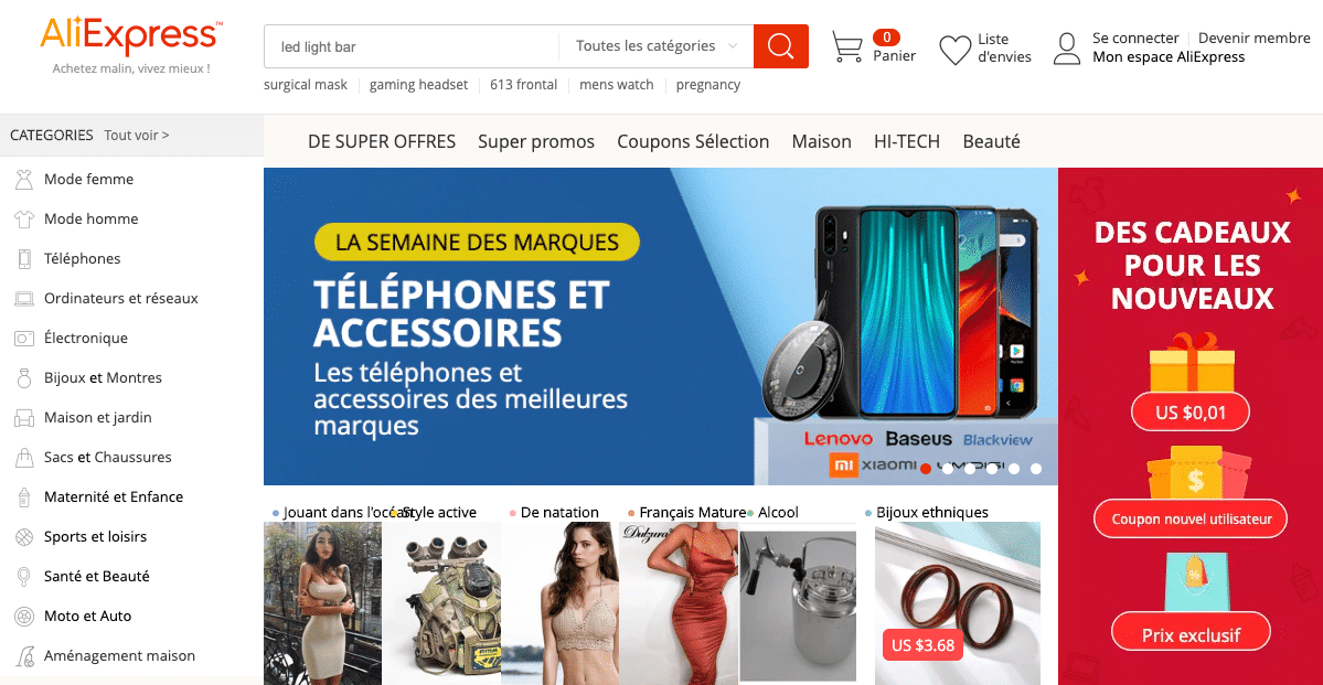 aliexpress site chinois fiable