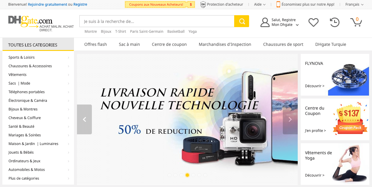 dhgate site chinois gadget geek
