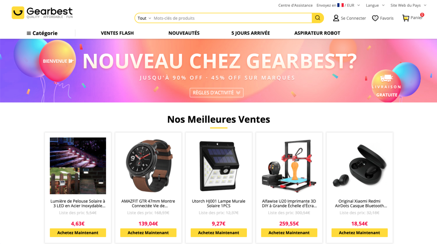 gearbest site chinois electronique gadget geek