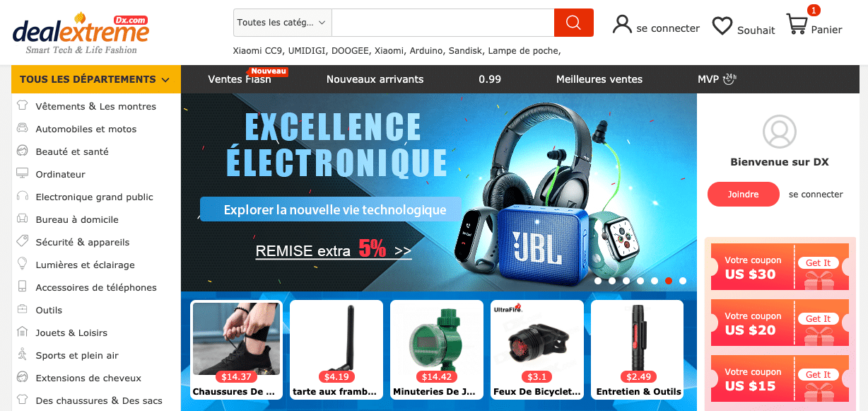 site chinois gadget dx deal